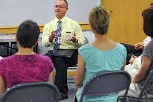 Cosimo Tangorra Jr., new Niskayuna superintendent of schools, meets community members at the Niskayuna Town Library on Friday, June 19, 2015 in Niskayuna, N.Y.  (Lori Van Buren / Times Union)