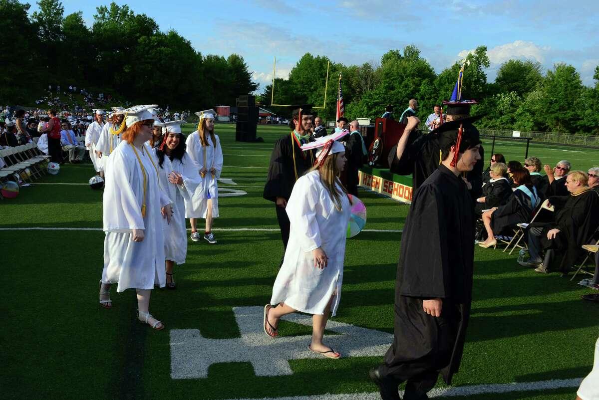 Shelton High School's Class of 2015 Commencement Exercises in Shelton, Conn., on Friday June 19, 2015.