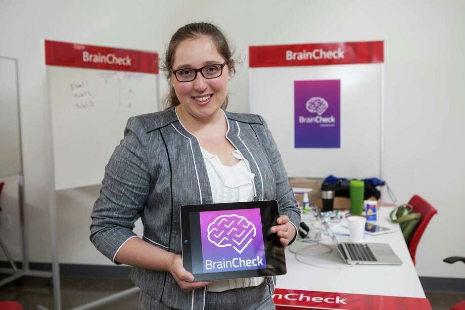 Yael Katz is CEO of BrainCheck, which uses games played on a tablet to detect concussions. The startup  is part of the Texas Medical Center's business accelerator.     Yael Katz is CEO of BrainCheck, which uses games played on a tablet to detect concussions. The startup  is part of the Texas Medical Center's business accelerator.  Photo: Scott Dalton, Freelance / 2015 Houston Chronicle