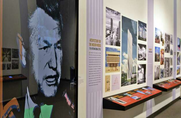 Andy Warhol's portrait of Governor Nelson Rockefeller, left, anchors the NYS Museum's new Empire State Plaza at 50 Exhibit Friday June 19, 2015 in Albany, NY. The exhibit officially opens to the public on June 21.(John Carl D'Annibale / Times Union) Photo: John Carl D'Annibale / 00032343A
