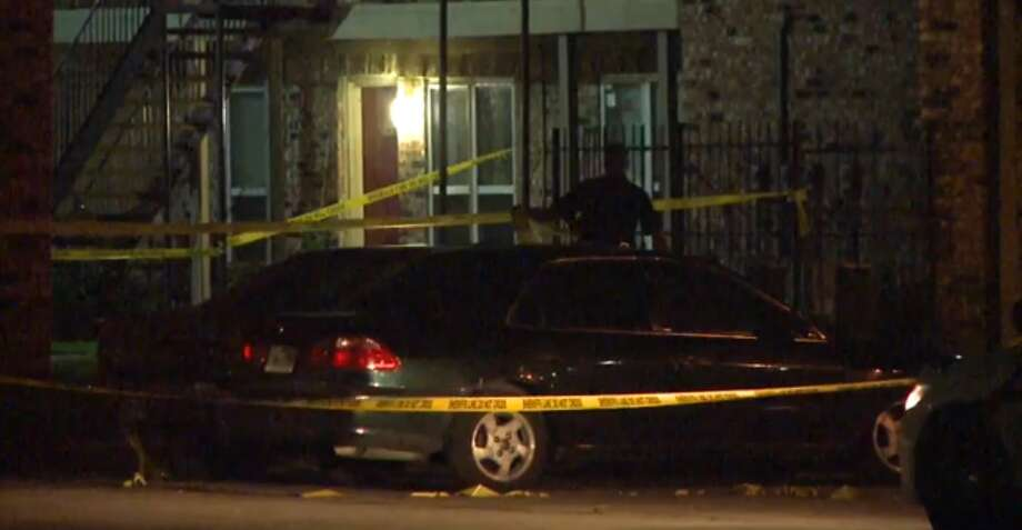 A shooting at a party in a Northeast Houston apartment complex has left one dead from a gunshot wound. According to Harris County deputies at the scene, a party at the Haverstock Hills apartment complex in the 5600 block of Aldine Bender Road turned ugly when someone began shooting, just after midnight Saturday. One victim was shot and killed at the scene. There are no known suspects at this time. Photo: Metro Video