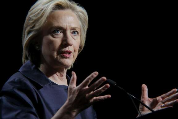 Democratic presidential candidate Hillary Clinton speaks before the U.S. Conference of Mayors in San Francisco, California, on Saturday, June 20, 2015. Clinton spoke about the shooting in Charleston and the continued existence of racism in the United States.