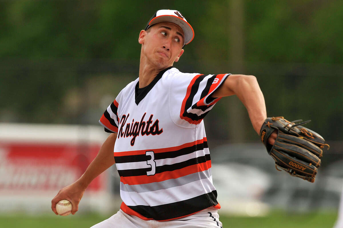 Stamford's Billy DeVito was the starting pitcher during the Black Knights' baseball game against Brien McMahon at Stamford High School in Stamford, Conn., on Wednesday, May 6, 2015. Stamford won, 9-4.