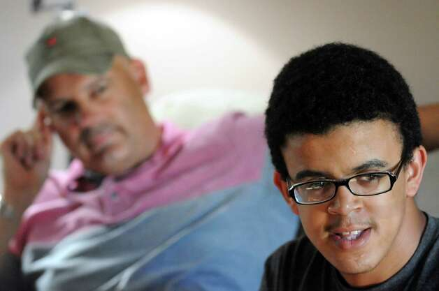 Misael Monroe-Brosen talks about his life with two dads on Tuesday June 16, 2015 in Colonie, N.Y.  (Michael P. Farrell/Times Union) Photo: Michael P. Farrell / 00032303A