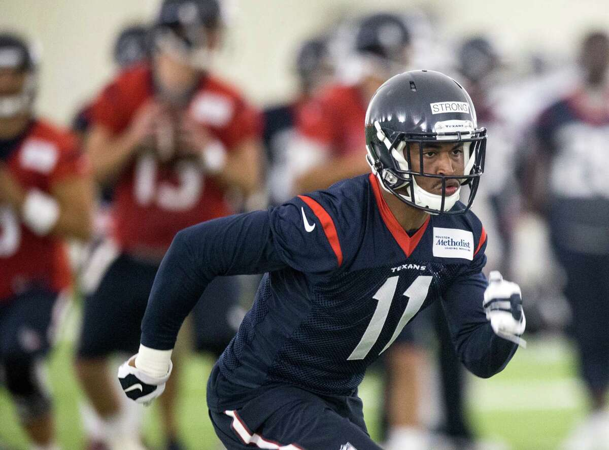 Proud and hard-headed like his father, Texans rookie wide receiver Jaelen Strong knows only one speed on the football field, and that's full pedal to the metal.
