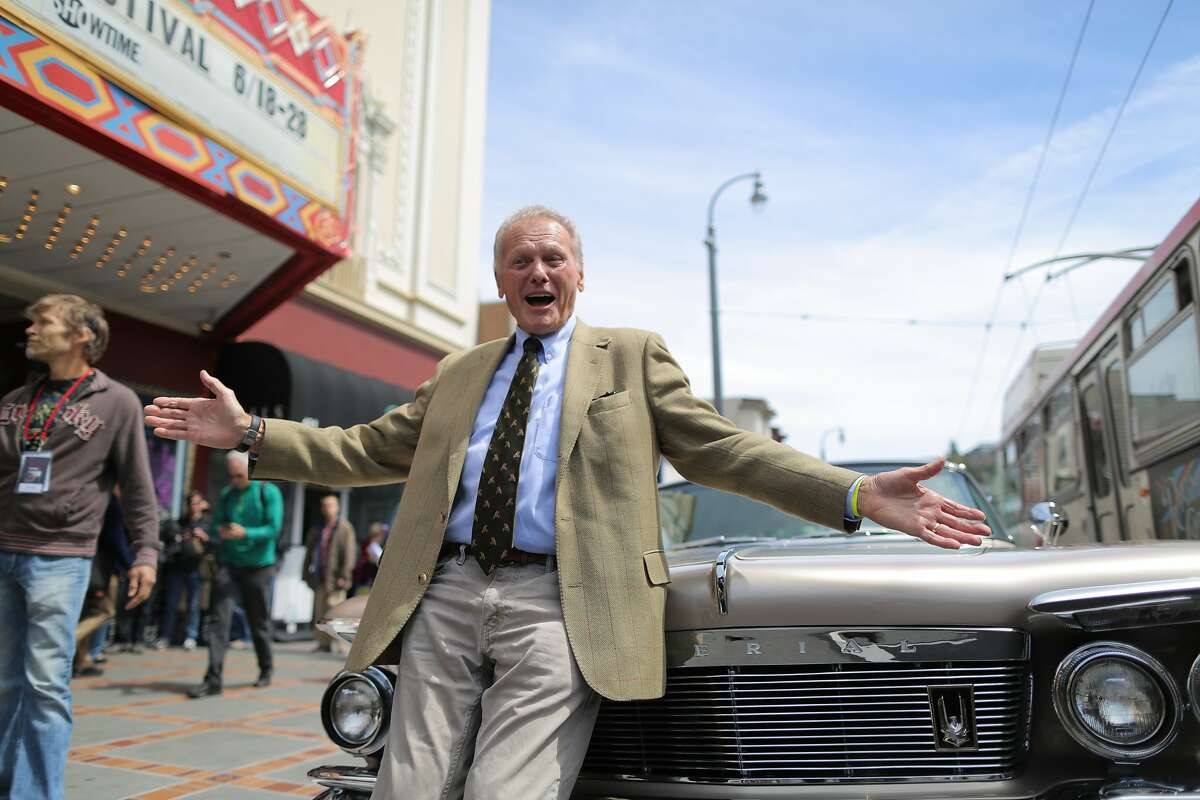 Tab Hunter shows off the 1961 Chrysler Imperial he arrived in before a screening of the film Tab Hunter Confidential during the Frameline39 LGBTQ film festival at the Castro Theatre in San Francisco, California, on Saturday, June 20, 2015. The film is about the life and career of Tab Hunter, a formerly closeted Hollywood heartthrob of the 1950s.