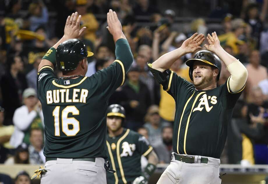 Stephen Vogt, who has had a great first half at the plate, is one of three players — along with pitcher Sonny Gray and outfielder Josh Reddick — who Bob Melvin touted as All-Star caliber players this season. Photo: Denis Poroy, Getty Images