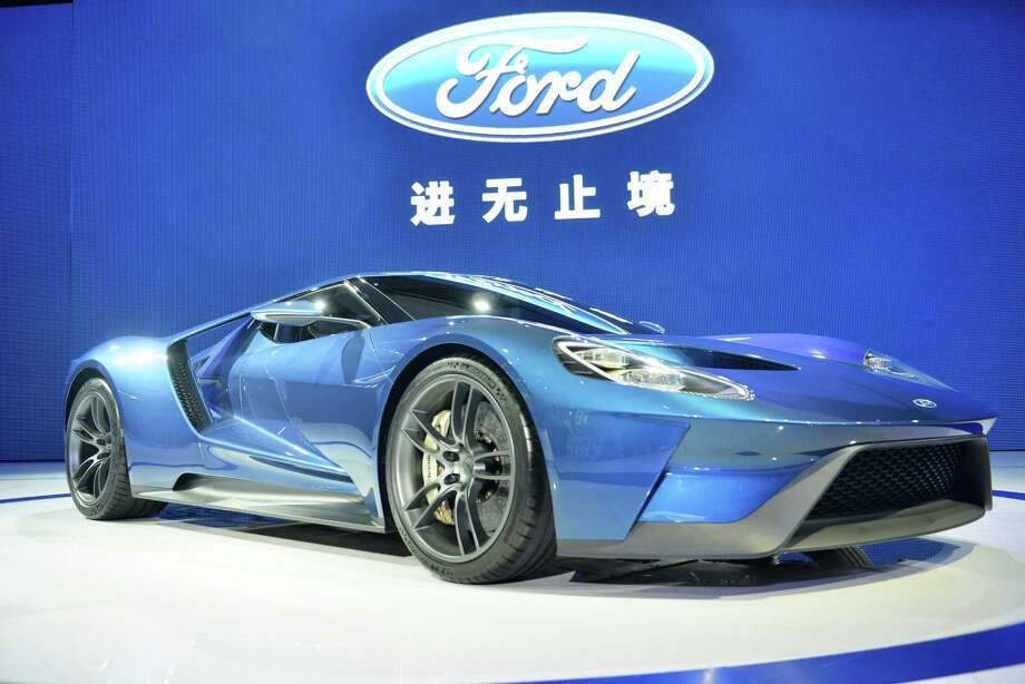 A Ford car is exhibited during the 2015 Shanghai Auto Show in Shanghai, China.  Car brands from across the world gathered in Shanghai to present their latest models and concept cars at Auto Shanghai 2015. Photo: ChinaFotoPress, Getty Images / 2015 ChinaFotoPress