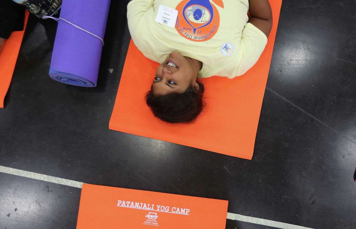 Ekta Kaji attends the International Day of Yoga event held at the George R. Brown Convention Center on Sunday, June 21, 2015, in Houston.