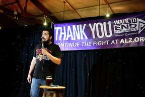 More than 40 comedians took the stage during the Longest Day of Laughs Comedy Marathon at the Blue Star Brewing Co. June 21, 2015.