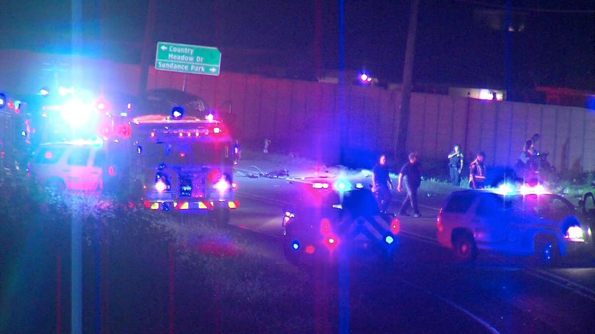 A man and two children died Sunday night after a crash in West Bexar County.