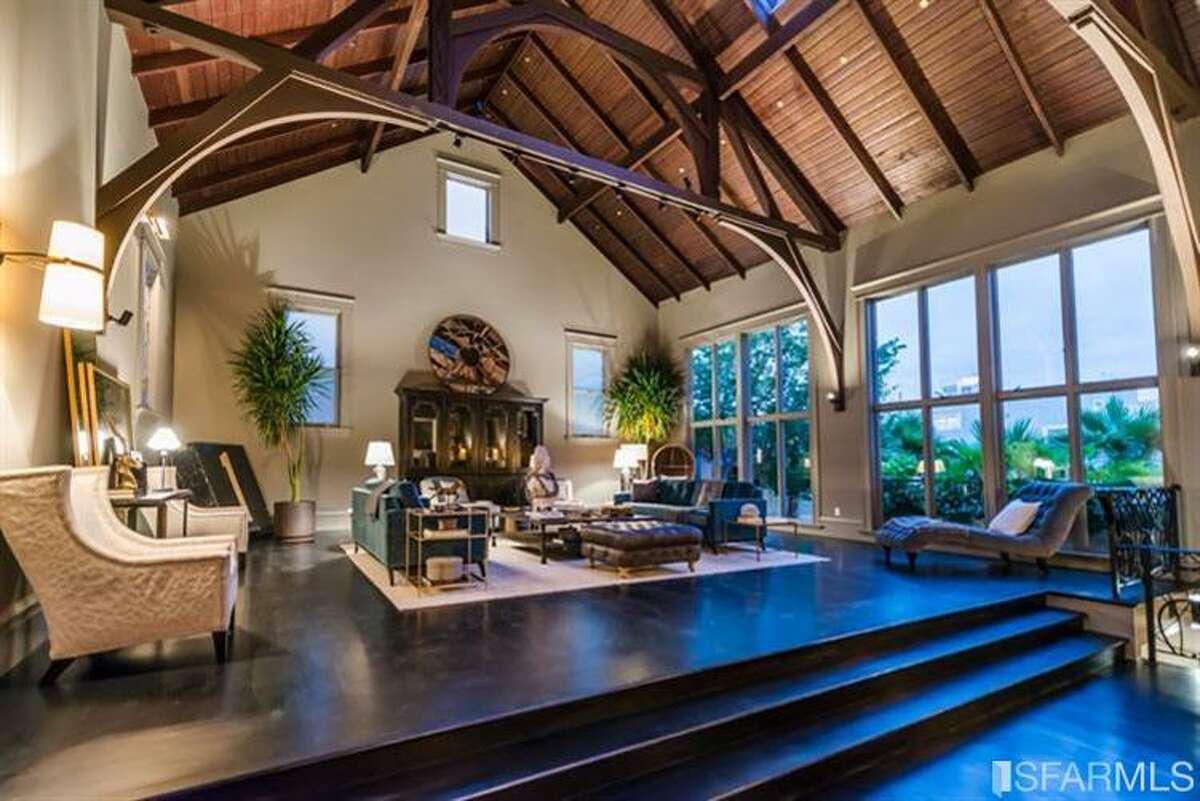 The raised living room