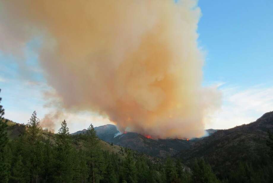 The Washington Fire south of Lake Tahoe scorched 8,000 acres by the end of the weekend. Photo: Courtesy Of The U.S. Bureau Of Land Management