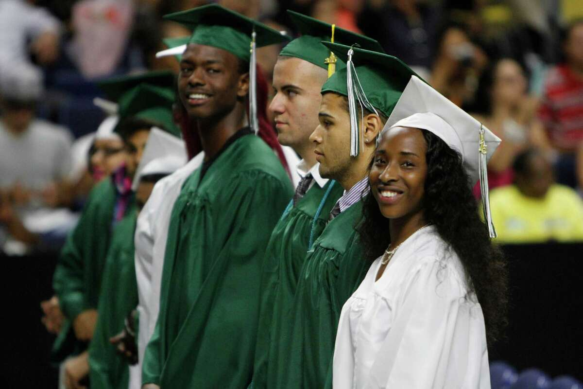 The 2015 Bassick High School commencement ceremony at The Arena at Harbor Yard in Bridgeport on Monday, June 22, 2015.