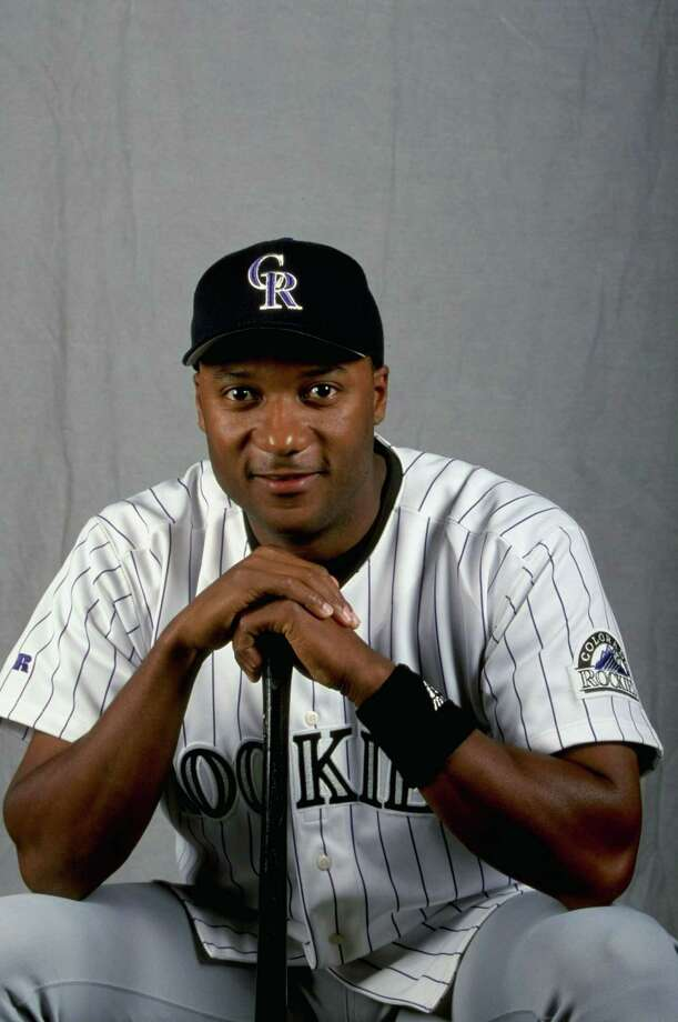 25 Feb 1999: Outfielder Darryl Hamilton #12 of the Colorado Rockies poses for a studio portrait on Photo Day during Spring Training at Hi Corbett Field in Tuscon, Arizona. Mandatory Credit: Tom Hauck  /Allsport Photo: Tom Hauck, Getty Images / Getty Images North America