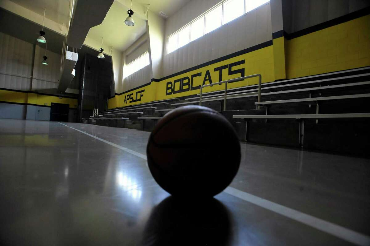 Inside the vocational building, as it was known, the gym had only this ball still sitting on the floor. The Al Price Juvenile Correctional Center on Highway 69 in Nederland has been closed for two years. But it is still being maintained by two caretakers and Jefferson County will take custody of the facility in January of 2014. Dave Ryan/The Enterprise