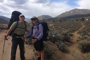 Jim and I demonstrate two approaches to backpacking: ultra-light and not so much.