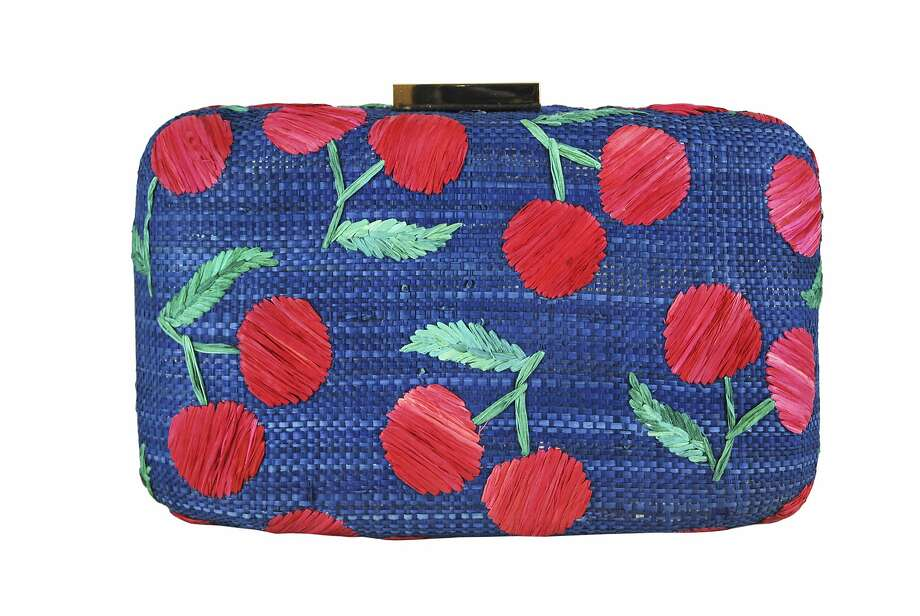 Kayu's Juliette clutch in navy, $185. Photo: Kayu