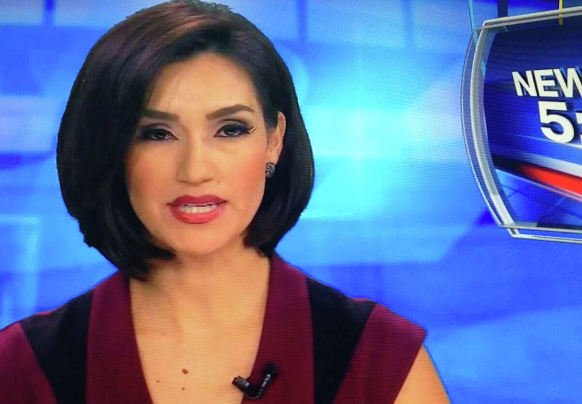 This screenshot from KSAT-TV's 5 p.m. newscast on June 22, 2015 shows Isis Romero's new hair.