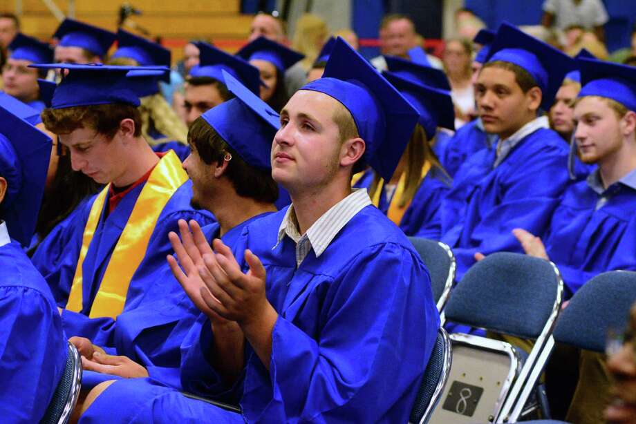 Henry Abbott Technical High Schools Commencement Ceremony was held at Western Connecticut State University's O'Neill Center on Monday, June 22, 2015. Photo: Lisa Weir, For The Newstimes / The News-Times Freelance