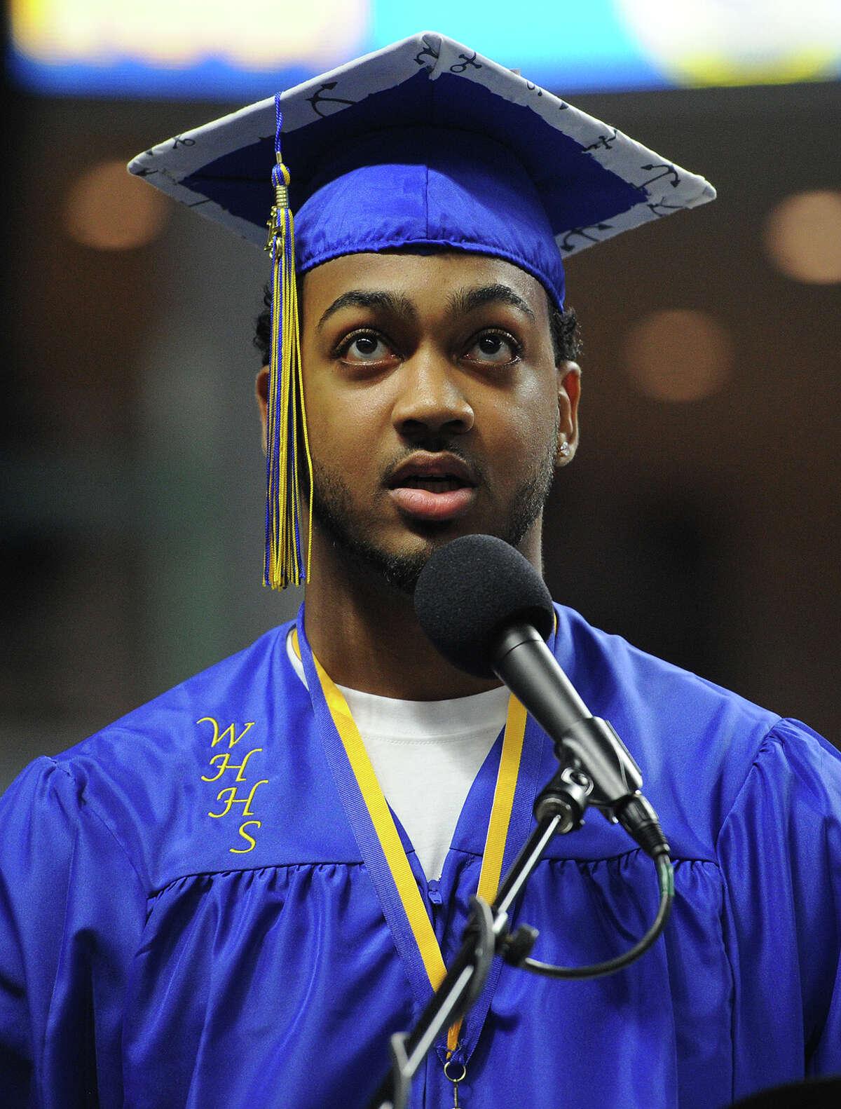 Harding High School Graduation at the Webster Bank Arena in Bridgeport, Conn. on Monday, June 22, 2015.