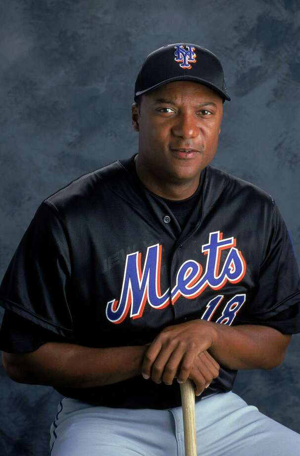 FILE - JUNE 22:  According to reports June 22, 2015, Darryl Hamilton, analyst for the MLB Network and former MLB player, has died in an apparent murder suicide in Pearland, Texas. 2 Mar 2000: Outfileder Darryl Hamilton #18 of the New York Mets poses for a studio portrait during Spring Training Photo Day in Port St. Lucie , Florida. ORG XMIT: 175309080 Photo: Matthew Stockman / Getty Images North America