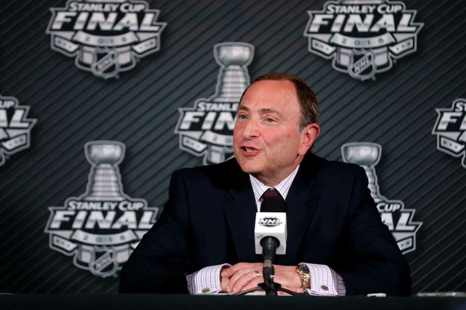 TAMPA, FL - JUNE 03:  NHL Commissioner Gary Bettman speaks to the media before Game One of the 2015 NHL Stanley Cup Final between the Tampa Bay Lightning and the Chicago Blackhawks at Amalie Arena on June 3, 2015 in Tampa, Florida.  (Photo by Bruce Bennett/Getty Images) ORG XMIT: 557666701 Photo: Bruce Bennett / 2015 Getty Images