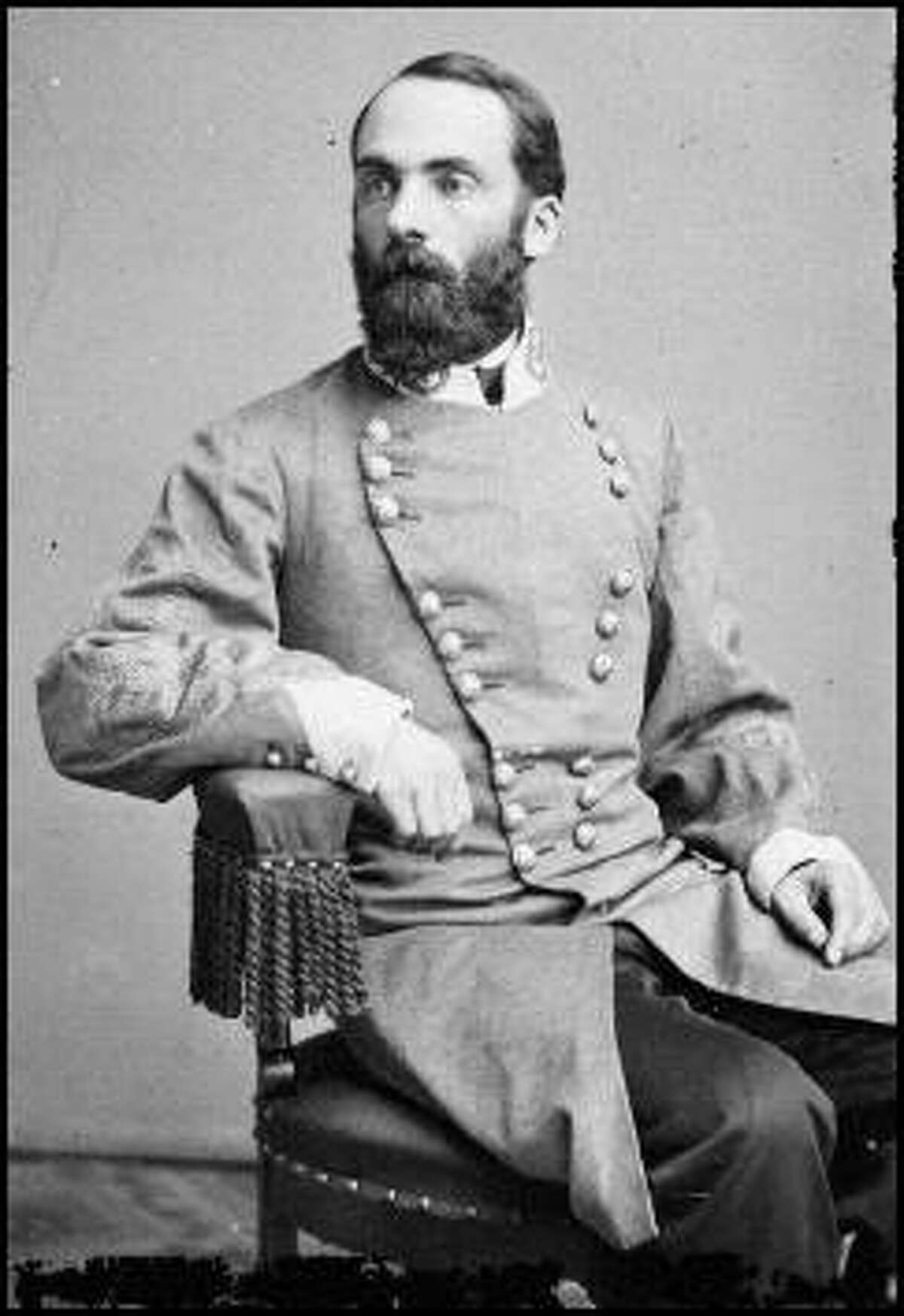 Joseph Wheeler in the uniform of an officer in the Confederate Army.