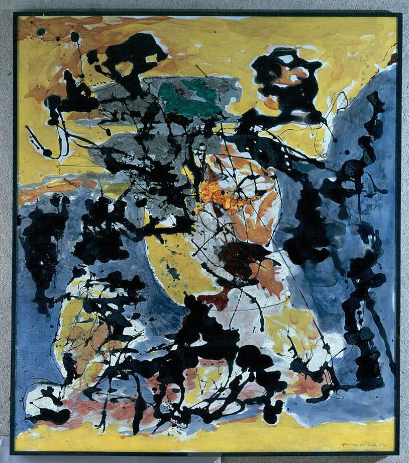 Painting by Jackson Pollock housed in the Empire State Plaza Art Collection. (State OGS)