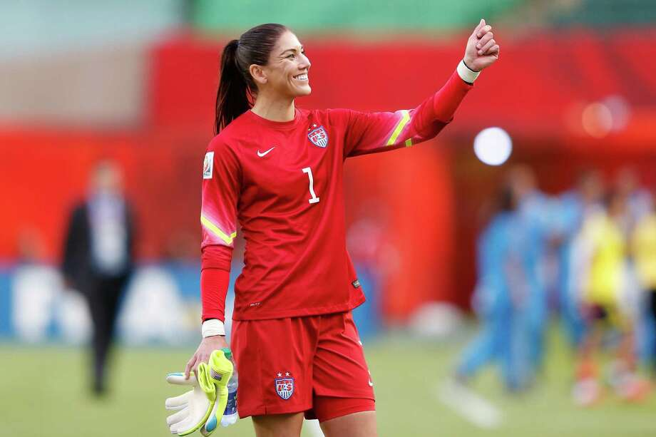U.S. goalkeeper Hope Solo will be sorely tested when the team takes on No. 1 Germany in the semifinals of the Women's World Cup on Tuesday. Photo: Todd Korol, Getty Images / 2015 Getty Images
