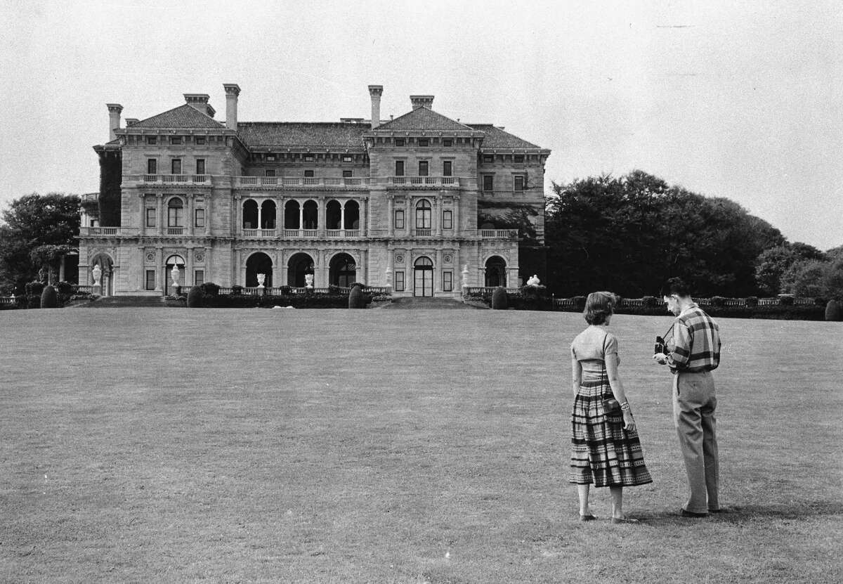 FILE - In this March 5, 1958 file photo, the Breakers mansion, a legendary 70-room summer estate built by former Railroad magnate Cornelius Vanderbilt II in 1895 and designed by Richard Morris Hunt, is seen in Newport, R.I. The Vanderbilt family, once synonymous with American wealth and power, has fallen into a full-blown public spat with the organization that now owns their spectacular Rhode Island mansion. (AP Photo, File)