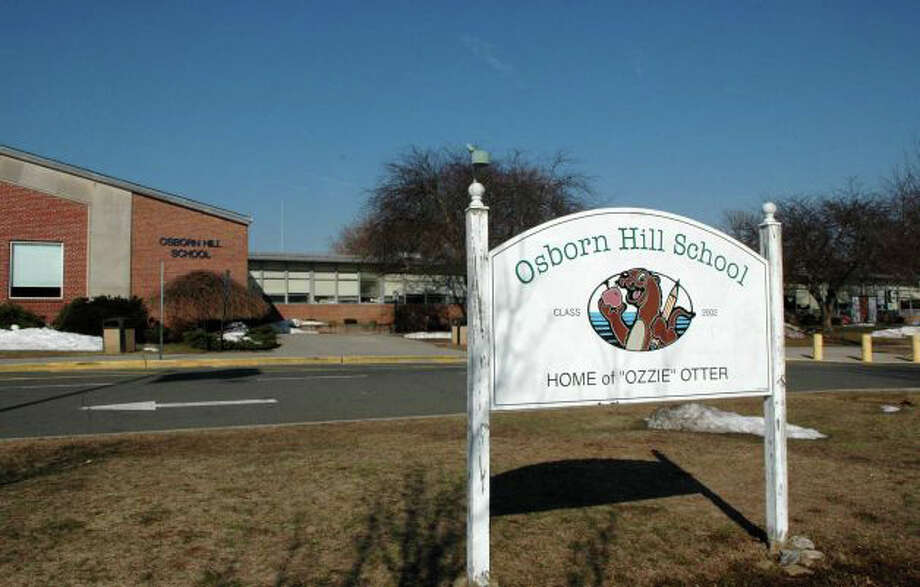 The Representative Town Meeting learned Monday that the only bid for an enclosed walkway at Osborn Hill School came in at almost $700,000. Photo: Genevieve Reilly / Fairfield Citizen / Fairfield Citizen
