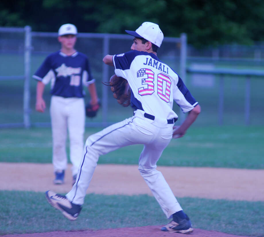 Westport little league pitcher Hayden Jamali throws a pitch during an 11-1 win over North End on Monday, June 22, 2015 at Unity Park in Trumbull, Connecticut. Photo: Ryan Lacey/Staff Photo / Westport News Contributed
