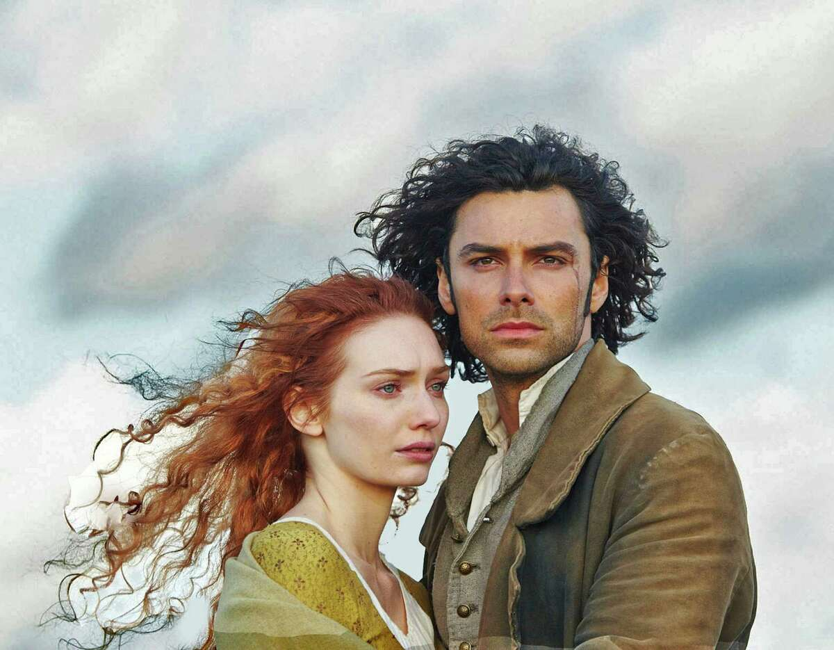 Ross Poldark rides again via Aidan Turner, who plays the dashing Capt. Poldark. Eleanor Tomlinson plays the spunky miner's daughter he takes in as a maid.