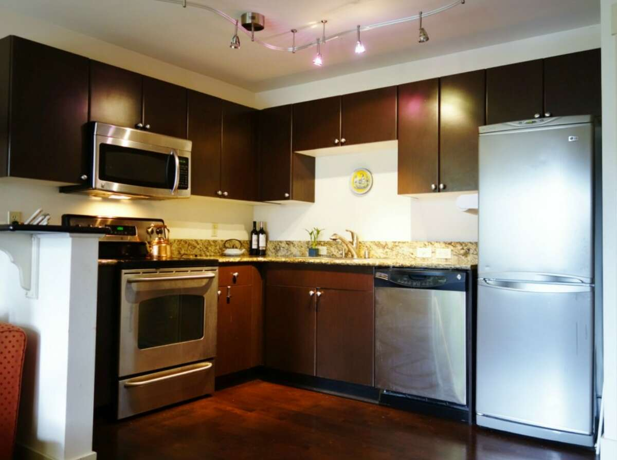 The kitchen in 120 N.W. 39th St. #204
