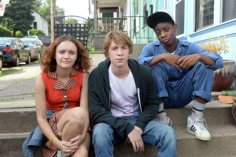 "Olivia Cooke (from left), as Rachel, Thomas Mann as Greg, and RJ Cyler as Earl, in a scene from the film ""Me and Earl and The Dying Girl."" Photo: Anne Marie Fox /Associated Press / Fox Searchlight"