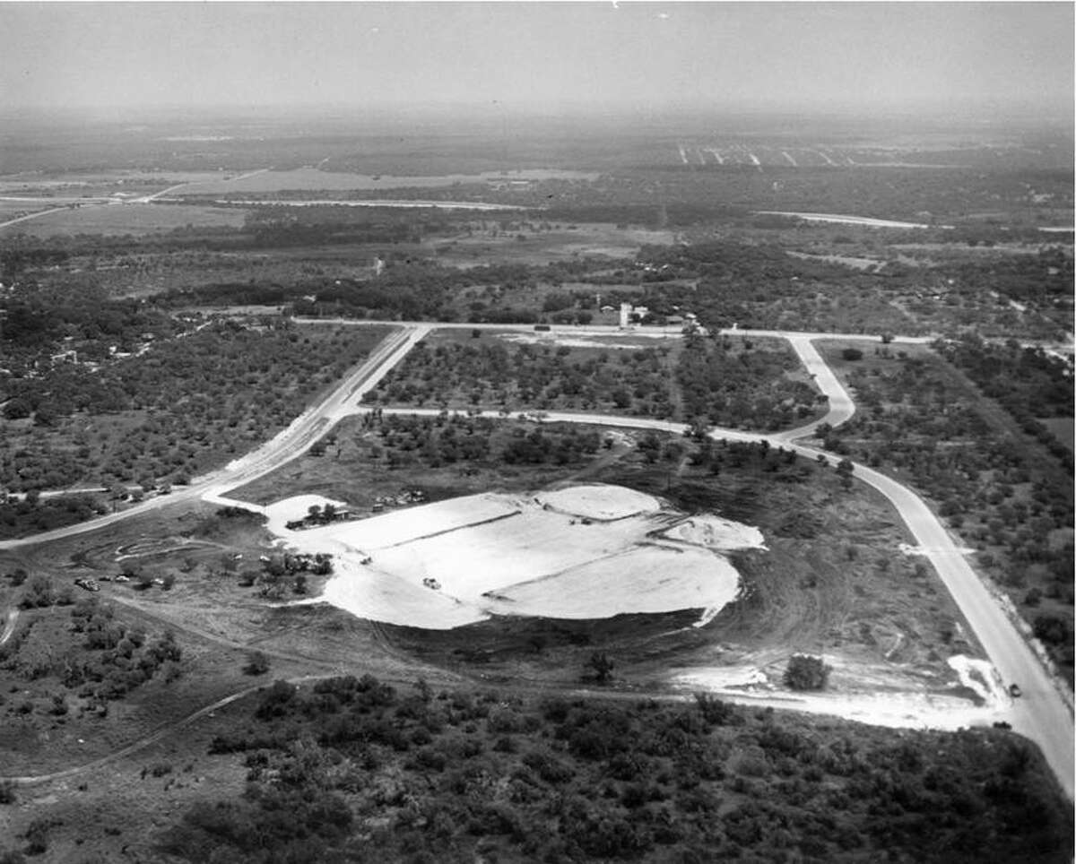 """The 25-acre site where Methodist Hospital would be built is shown before construction began in 1960. The land was located in the Oak Hills area between Fredericksburg and Babcock roads and north of Callaghan Road. The property was donated by Five Oaks, Inc., a company composed of George Delavan Sr., Carl Gaskin Jr., Edgar von Scheele and brothers G.S. """"Sealie"""" McCreless and S.E. """"Sollie"""" McCreless."""