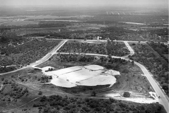 "The 25-acre site where Methodist Hospital would be built is shown before construction began in 1960. The land was located in the Oak Hills area between Fredericksburg and Babcock roads and north of Callaghan Road. The property was donated by Five Oaks, Inc., a company composed of George Delavan Sr., Carl Gaskin Jr., Edgar von Scheele and brothers G.S. ""Sealie"" McCreless and S.E. ""Sollie"" McCreless."
