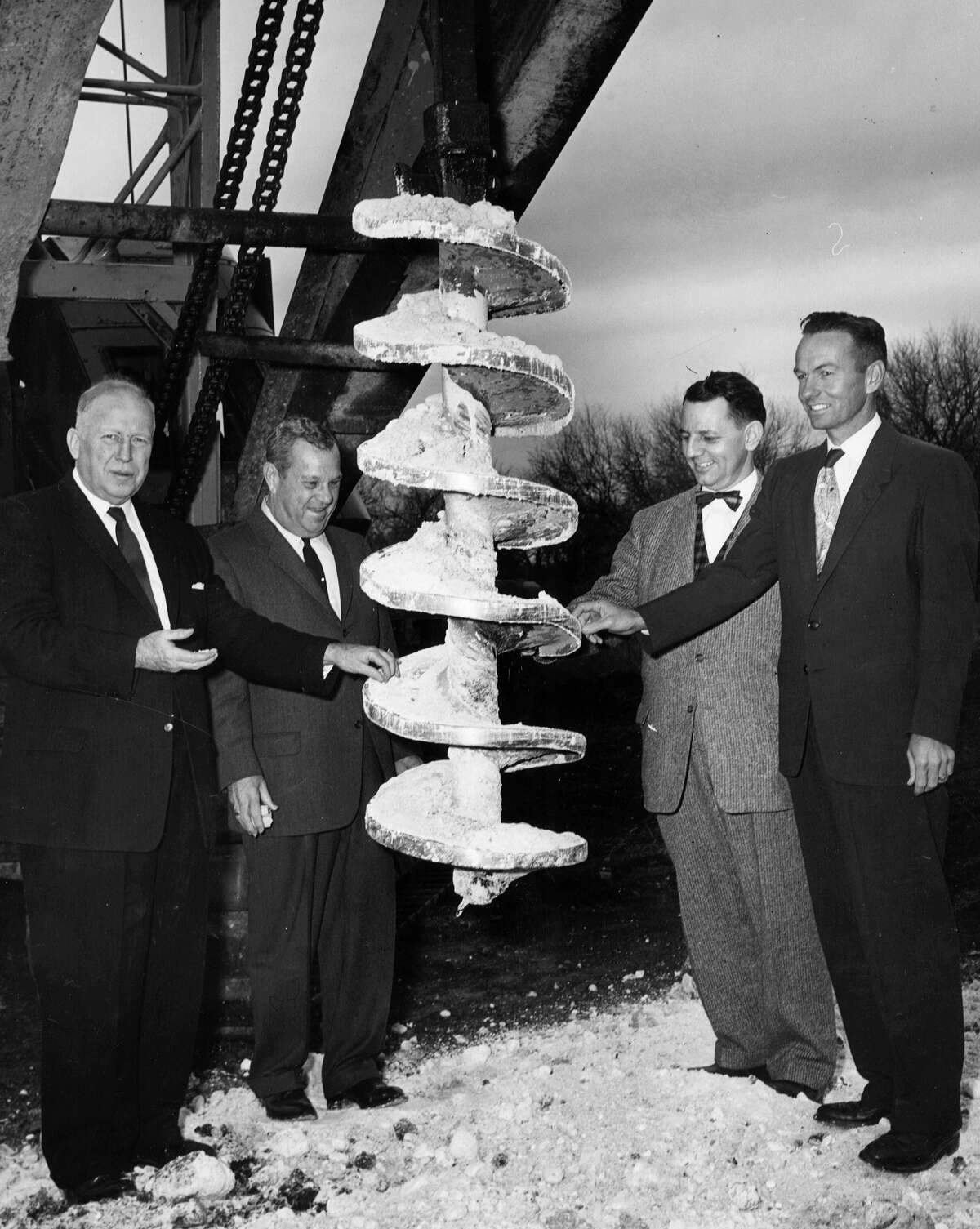 Officials prepare to break ground on a 25-acre tract of land - the future home of Methodist Hospital - on May 25, 1960. Originally known as Southwest Texas Methodist Hospital, it was the first institution to be built in San Antonio's South Texas Medical Center.