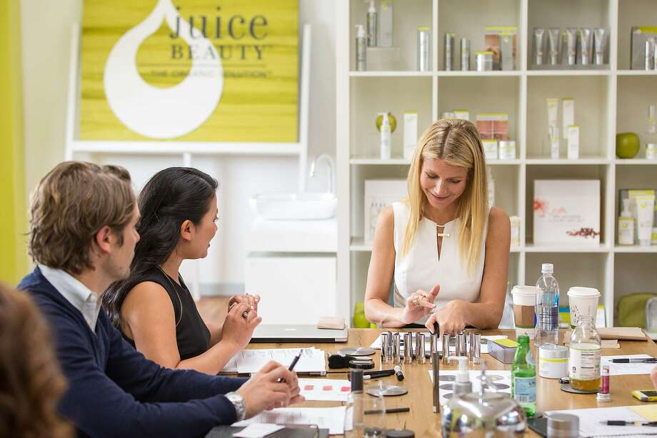 Actress Gwyneth Paltrow is part of Juice Beauty's team (as creative director, makeup) and the company hopes she can help them compete with conventional brands when their makeup line debuts next year. Photo: Drew Altizer Photography/SFWIRE, Juice Beauty