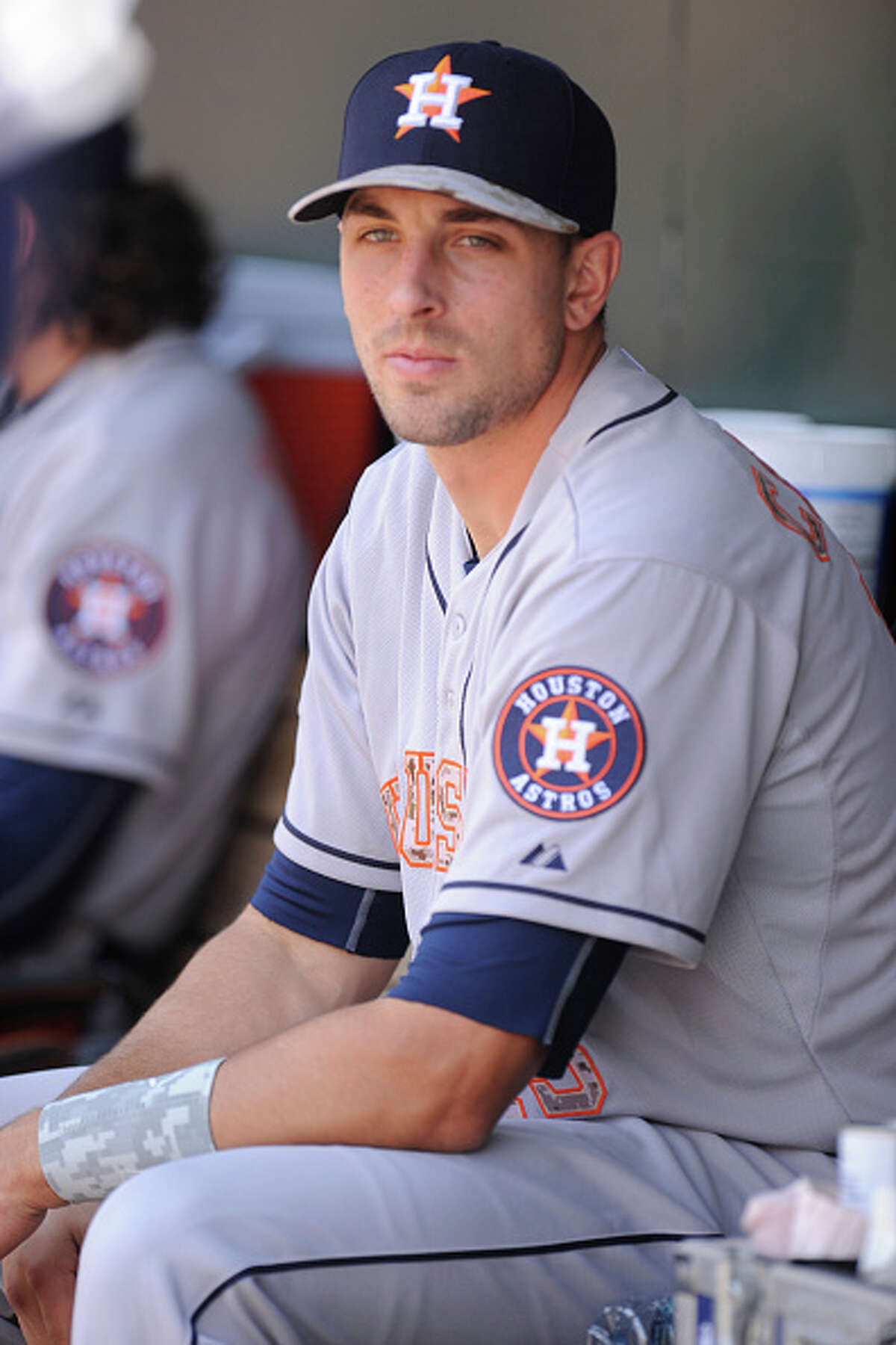 George Springer Houston Astros Remember the hot and strangely photogenic guy who had his photo taken at the finish line of a marathon? Well, he has competition. Meet George Springer, part time dugout model.