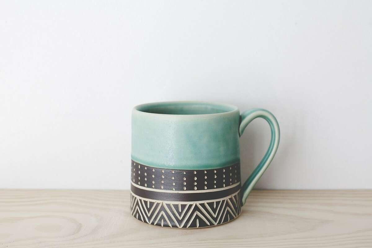 Jessica Wertz ceramic mugs can be found at Makers Market, Westfield San Francisco Centre. makersmarket.us