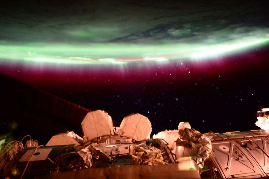 "Photo taken by astronaut Scott Kelly on Tuesday from onboard the International Space Station. What Kelly wrote: ""#Aurora I don't think I will ever see another quite like you again. #YearInSpace"" Check out more from ISS astronaut Scott Kelly on Twitter."