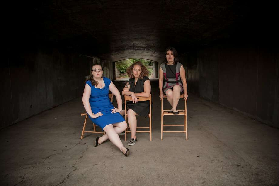 Claire Rice (left), Rachel Bublitz and Tracy Held Potter. Photo: Rob Reeves