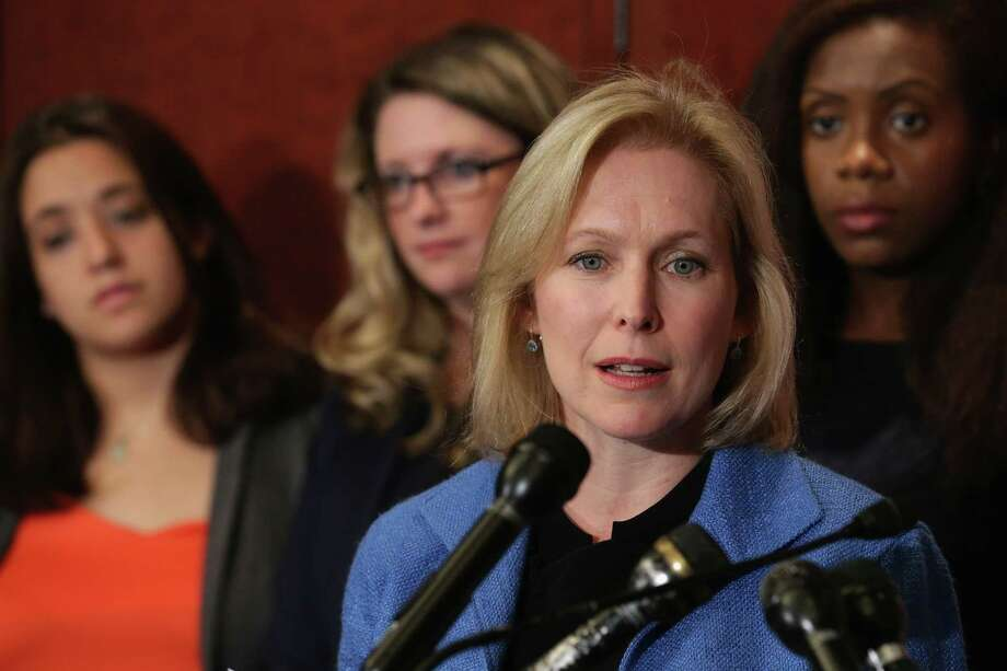 Sen. Kristen Gillibrand, D-NY, has shown admirable determination in her effort to improve reporting procedures of military sexual assault victims. Photo: Chip Somodevilla /Getty Images / 2014 Getty Images