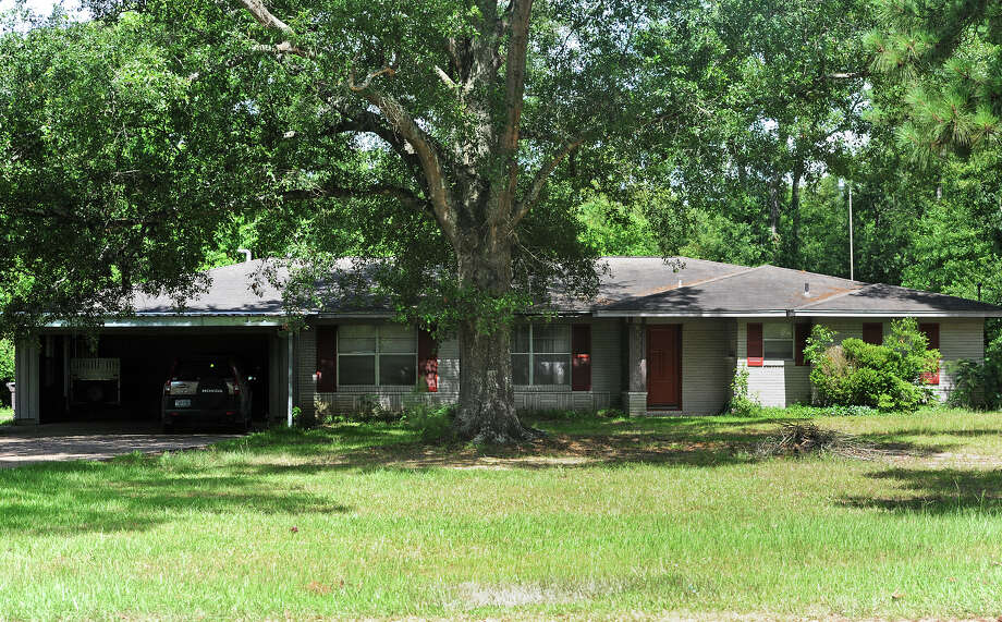 The north Vidor home were a man and woman were found  murdered late Thursday night. The victims were both in their 80s.