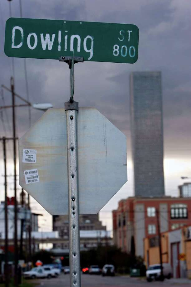 As the city's historic Emancipation Park anticipates a grand reopening this year, Dowling and Tuam streets are among several street names, school names and memorials that commemorate a racist past best left to history books and museums. (Johnny Hanson / Chronicle) Photo: Johnny Hanson, Staff / Houston Chronicle