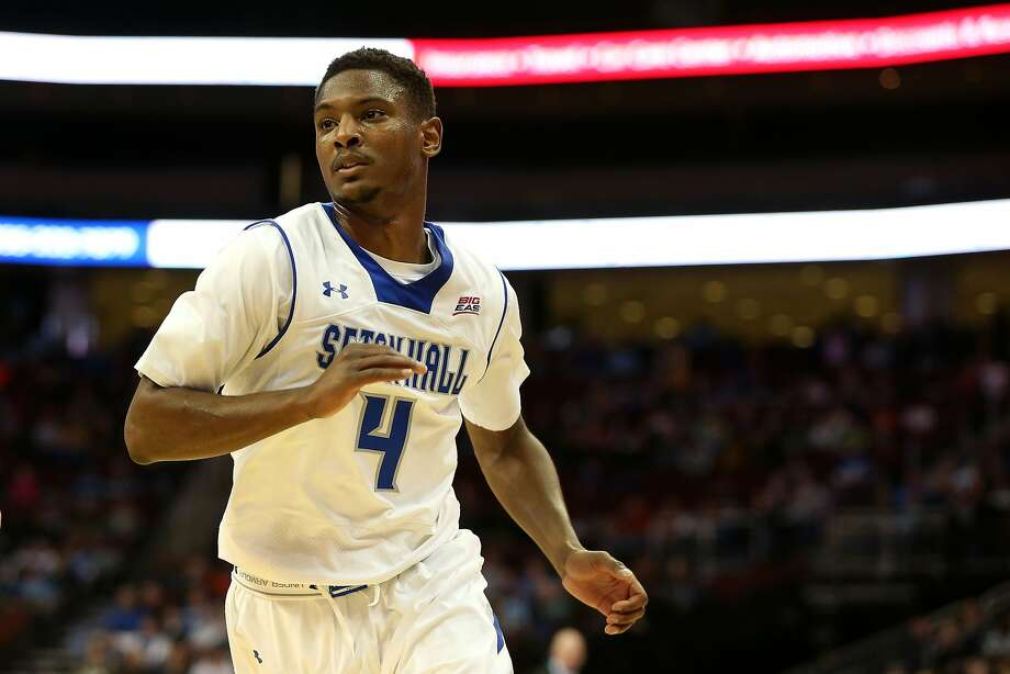 NEWARK, NJ - FEBRUARY 07:  Sterling Gibbs #4 of the Seton Hall Pirates against the Marquette Golden Eagles at Prudential Center on February 7, 2015 in Newark, New Jersey.  (Photo by Chris Chambers/Getty Images) Photo: Chris Chambers, Getty Images