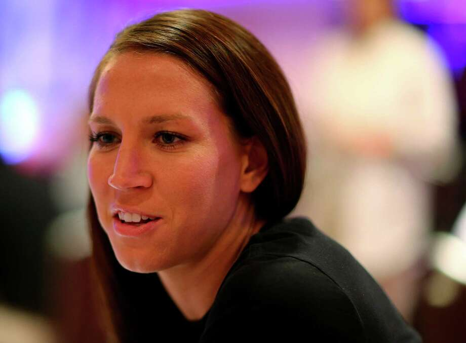 NEW YORK, NY - MAY 27:  Lauren Holiday answers questions during the United States Women's World Cup Media Day at Marriott Marquis Hotel on May 27, 2015 in New York City.  (Photo by Elsa/Getty Images) Photo: Elsa, Staff / 2015 Getty Images
