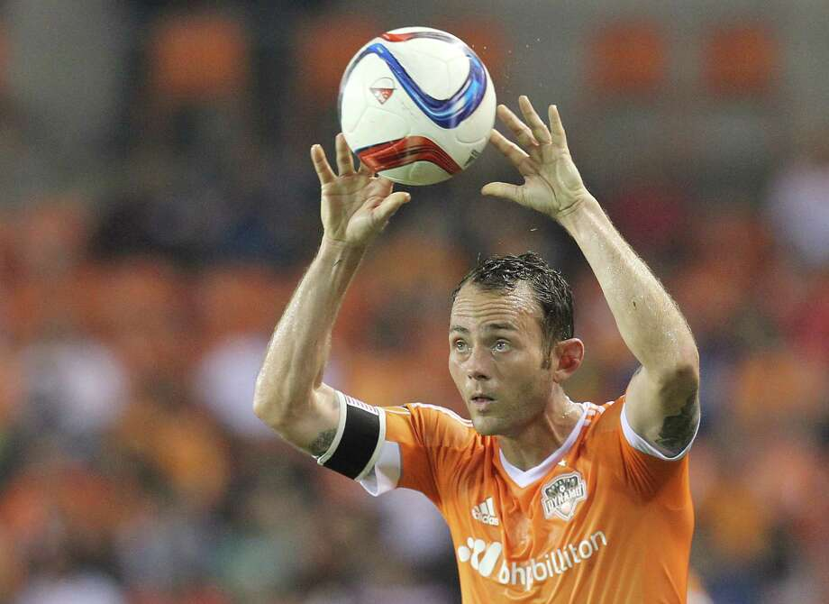 A right knee bone bruise will keep Dynamo captain Brad Davis out of the Gold Cup for Team USA. Photo: Thomas B. Shea, Freelance / © 2015 Thomas B. Shea